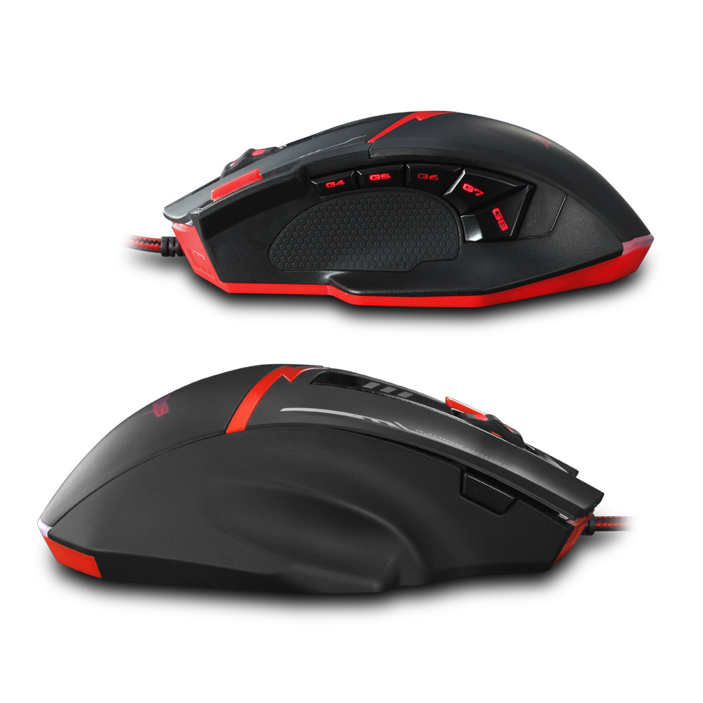 Wired mouse 11 key macro programming mouse pressure gun without rear seat features gaming 4000dpi optical mouse in Mice from Computer Office