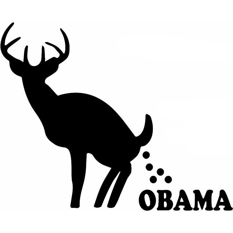 25.4 CM * 20.6 CM Caca Sobre Obama JDM Etiqueta Engomada Del Coche de Parachoque