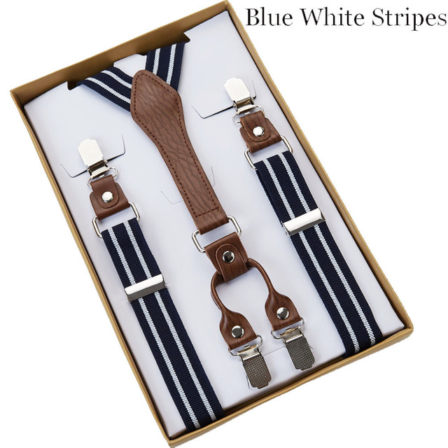 4 Clip Men's Suspenders Men Braces 2