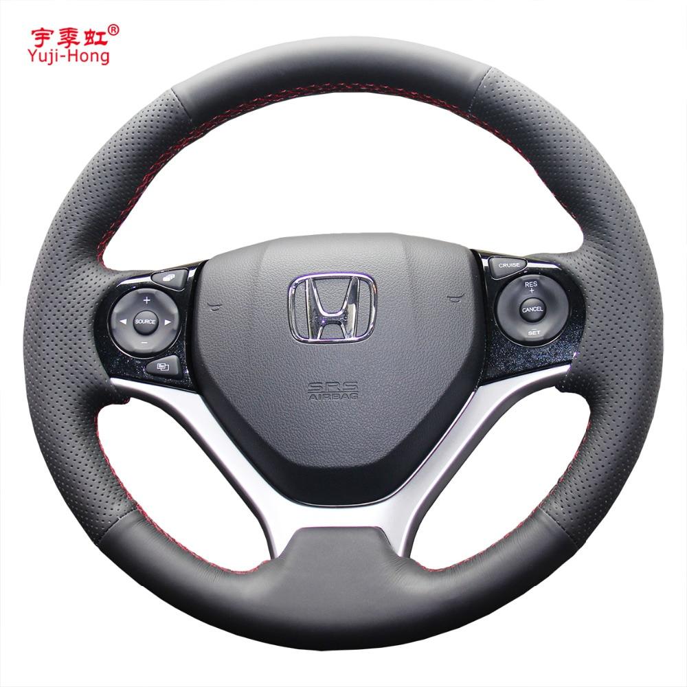 Yuji hong car steering wheel covers case for honda civic 9 jade 2013 2016