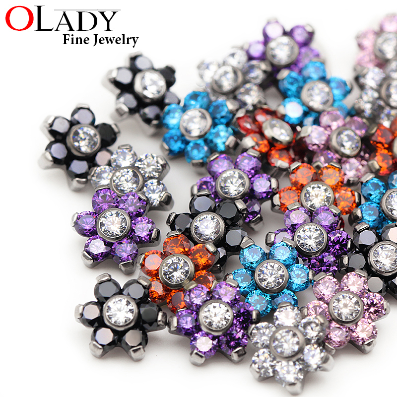 Dermal Anchor Top Micro Skin Diver Dermal G23 Titanium Piercing  jewelled piercing body jewelry attachments