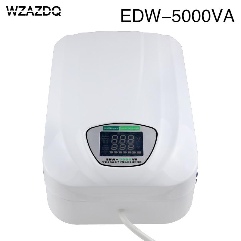 Edw-5000v ac voltage stabilizer 220v fully automatic household single phase digital display 3kw automatic voltage stabilizer 3000w computer 220v refrigerator vvoltage stabilizer single phase