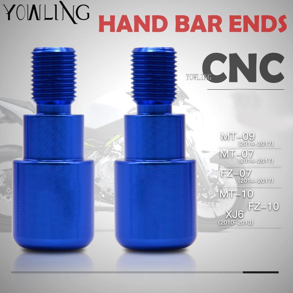 CNC Bar End Sliders Handlebar Plug Yamaha FZ07 MT07 FJ09 FZ09 MT09 XSR700 XSR900