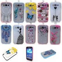 Телефон Case Прозрачный pattern мягкие TPU задняя крышка + Жесткий ПК 2 в 1 году Для Samsung Galaxy Grand Neo Plus I9060 Grand Duos I9082