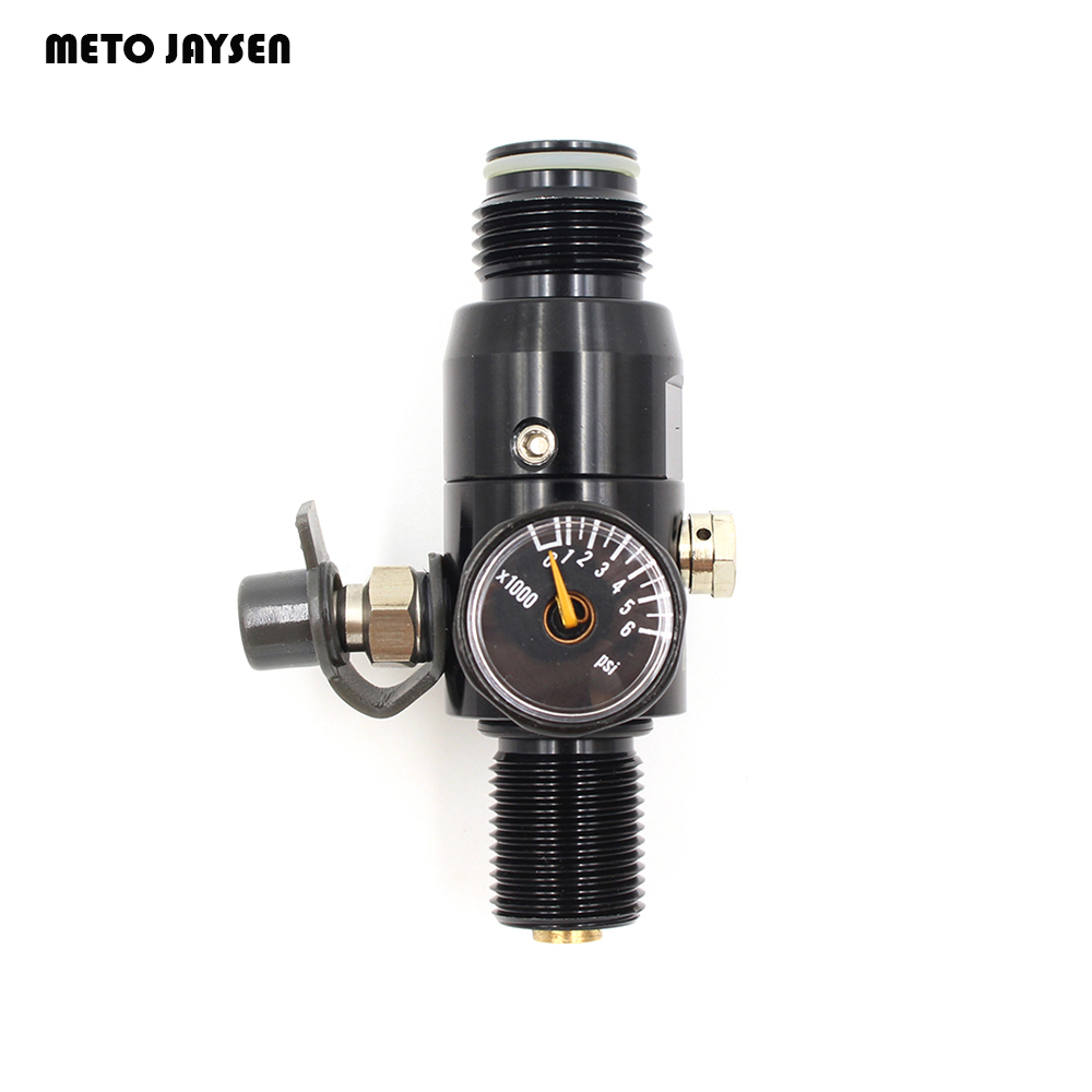 PCP Paintball Airsoft HPA Tank Regulator Valve M18*1.5 Thread Black 4500psi  1500psi/1800psi/2200psi Output Pressure REG01 pcp paintball din valve tank on off valves m18 male g5 8 female 30mpa 4500psi for m18 1 5 high pressure cylinders cf tank dvc05