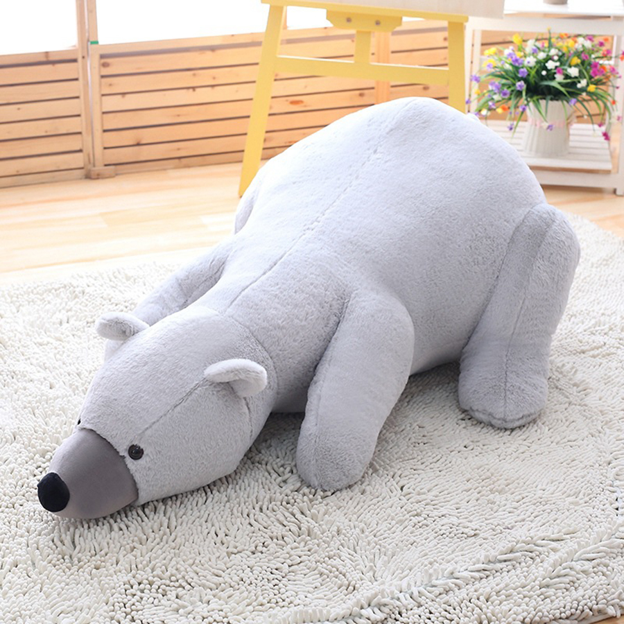 140cm Large Size Polar Bear Stuffed Dolls Plush Pillow Soft Toys Babys & Girls & Kids Gifts Birthday Present Kawaii 50T0568 fancytrader biggest in the world pluch bear toys real jumbo 134 340cm huge giant plush stuffed bear 2 sizes ft90451