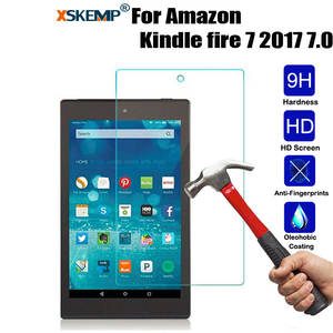 XSKEMP 0.3mm Transparent Real Tempered Glass For Amazon Kindle fire 7 2017 7.0 Ultra
