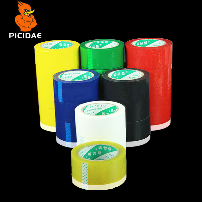 Tape Color Viscosity Adhesive Wrap Fixed Winding <font><b>Black</b></font> Red Green Yellow White Blue Reel Rubber Strip Packaging <font><b>Box</b></font> Sealing <font><b>Mail</b></font> image