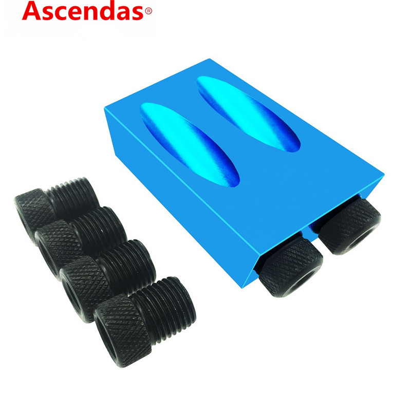 Pocket Hole Jig Kit 6/8/10mm Drive Adapter For Woodworking Angle Drilling Holes Guide Wood Tools TP-089Pocket Hole Jig Kit 6/8/10mm Drive Adapter For Woodworking Angle Drilling Holes Guide Wood Tools TP-089