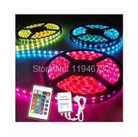 Free Ship 20pcs Super Bright 5 METERS 300SMD 5050 LED Strip Rope Light RGB Waterproof RGB