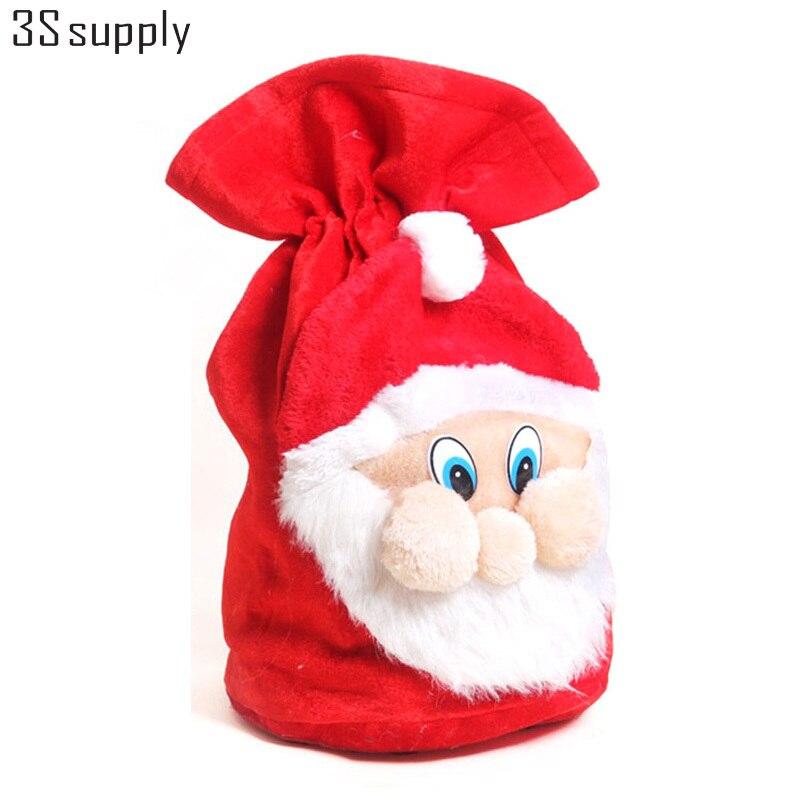 50 37cm big christmas gifts holders bags santa sacks backpack