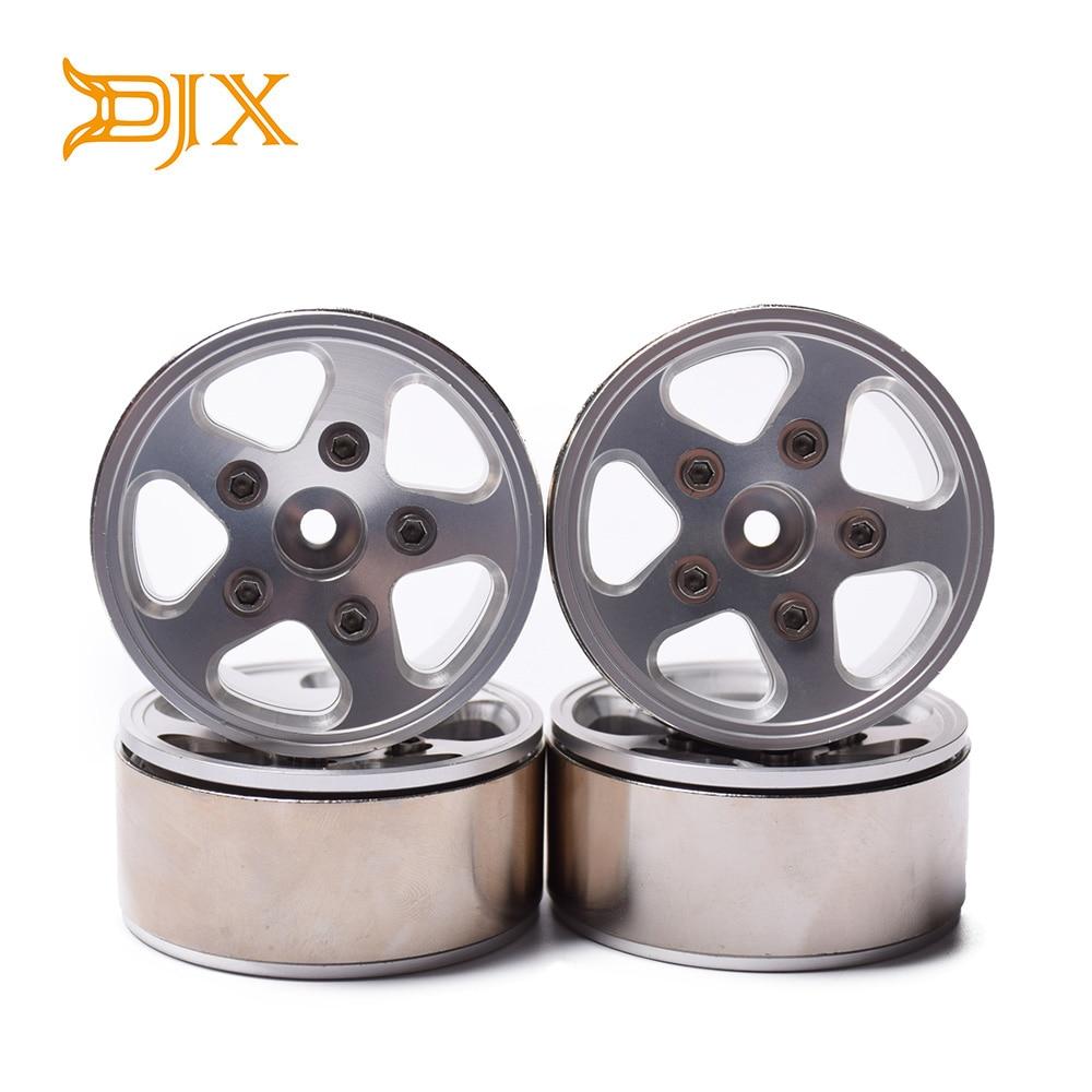 4PCS 1 9 inch Beadlock Wheel Rims 12mm Hex Hub For 1 10 Axial SCX10 90046