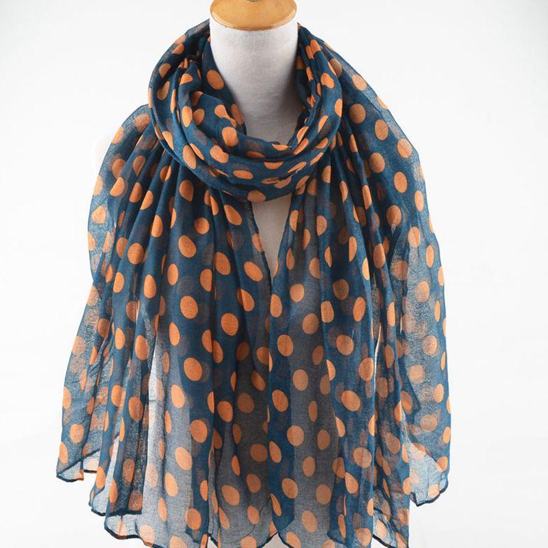 New Big Dot Print Scarves And Shawls Spot Polka Pattern Wrap Hijab Muffler 10 Colors lady pashmina Free Shipping