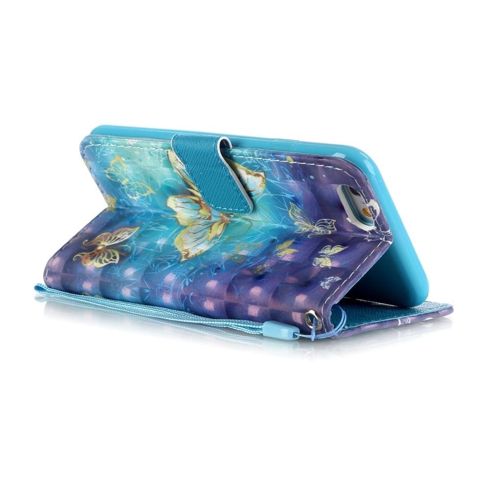 För Iphone 7 Cartoon 3D Vision Flower Tower Leather Plånbok Flip - Reservdelar och tillbehör för mobiltelefoner - Foto 6