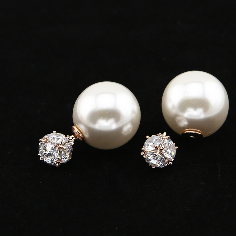 trendy party crystal stud flower charms earrings jewelry pearl image charm women je earring sale product products