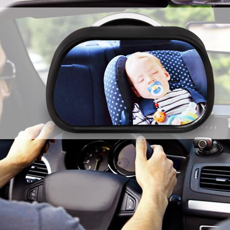 Universel Miroir De Voiture Bébé Siège Arrière Vue Miroir Bébé Enfant Rétroviseur Vue Arrière Miroir Moniteur De Voiture Housse de Siège Auto Noir