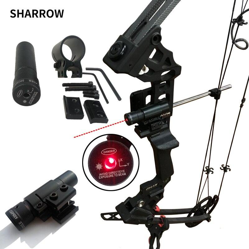 Лук прицел 50-100 м Диапазон 635-655nm Red Dot лазерный прицел пистолет регулируемый 11 мм 20 мм Пикатинни охота Аксессуар