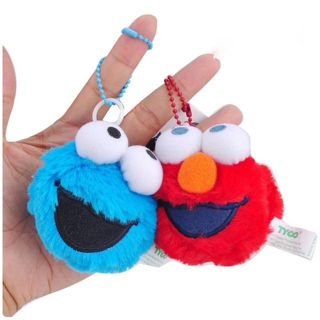 Twee Type Sesamstraat Schudden Pluche Hanger Pop Elmo Cookie Ernie Bert Ssft Mini Gevulde Pluche Speelgoed Zachte Poppen