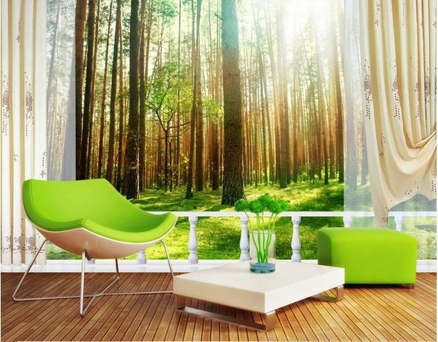 US $32.0 |Carta di parete boschi 3d paesaggio wallpaper murale adesivi  murali carta da parati papel de parede wallpapers20153029 in Carta di  parete ...