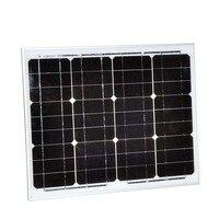 Solar Panel 30w 12v 2 Pcs /Lot Pannelli Solari Fotovoltaici 60w 24v Chargeur Solaire Motorhome Caravan RV Car Camp LED