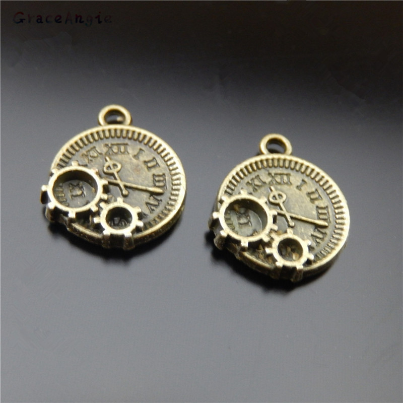 GraceAngie 20pcs/pack Gu Clay Alloy Technology Science Fiction Mechanical Gear Watch Watch Jewelry Pendant Accessories DIY Craft