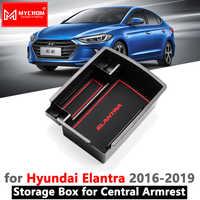 Accoudoir boîte rangement rangement rangement pour Hyundai Elantra 2016 2017 2018 2019 AD Avante Super Elantra voiture organisateur accessoires