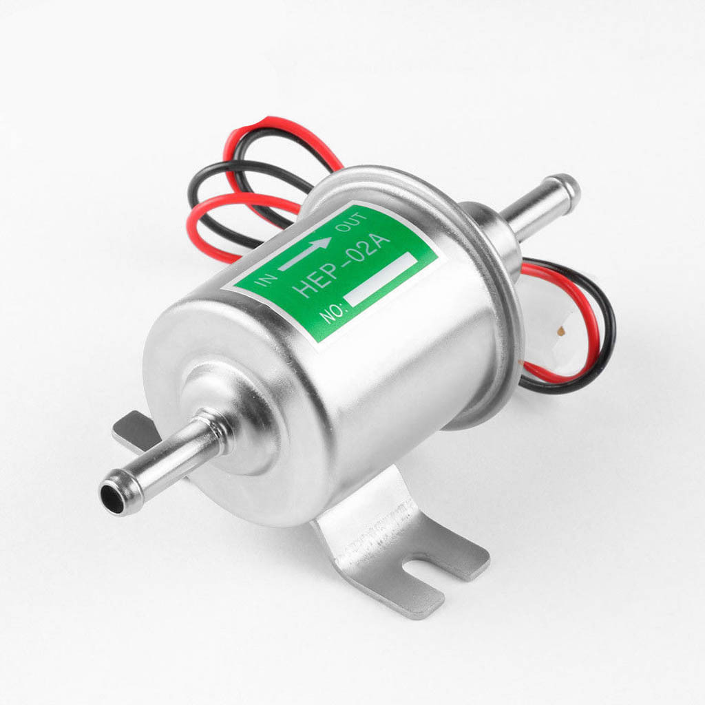 24V Electronic Fuel Pump HEP-02A New Gas Diesel Fuel Pump Inline Low Pressure Electric Fuel Pump 24V M14