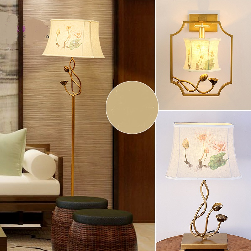 Chinese Style Floor Lamps Bedroom Living Room Lamp Lights Retro Minimalist Modern Creative LED Desk ZA895