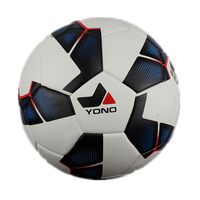 YONO PVC #4 Soccer Ball Football Professional Teenagers Student Training Ball Black With White Word Cup Competition Ball