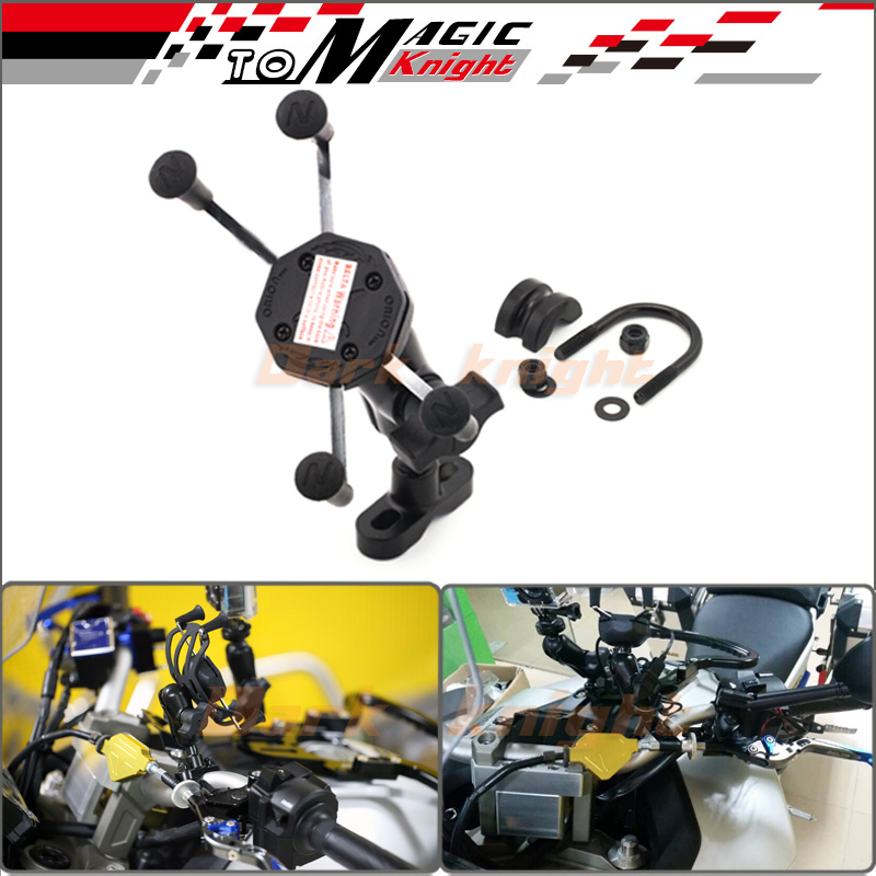 ФОТО For BMW F700GS F800GS F800R F800GT G650GS K1200R K1300R Motorcycle Accessories GPS Navigation Frame Mobile Phone Mount Bracket