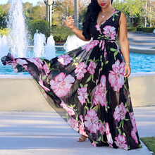 Boho Beach Dress Summer 2019 Plus Size Long Maxi Dress Women Floral Printed Loose Bohemian Maxi Dress For Women 5xl zigzag printed dress for women