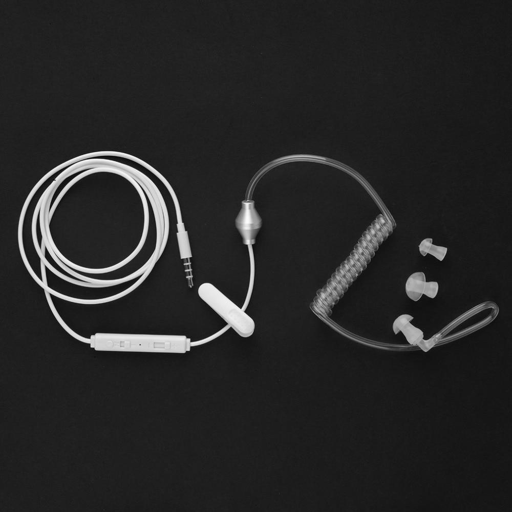 Stereo Monaural Air Tube 3.5mm Anti Radiation Earphone Headphone For Phone MP3 Free Shipping [Newest]