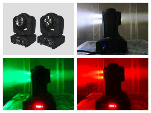 4pcs/lot, Double Side LED Moving Head Light 1x10W Beam And 4x10w Wash RGBW