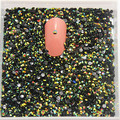 2mm SS6 5000pcs/pack Non Hot-Fix resin rhinestone Olive Green AB Black Jelly stone for DIY Nail Art Mobile Phone gems use glue