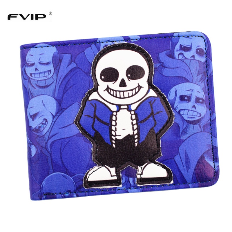 FVIP Anime Cartoon Five Nights At Freddy's Wallet Undertale Purse With Coin Pocket ID Card Holder Free Shipping