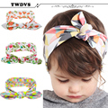 TWDVS Baby Дети Малышей Младенческой Цветочные Hairband Тюрбан Кролик Бантом Детские Повязка Головные Уборы Волос Группа Аксессуары kt-060