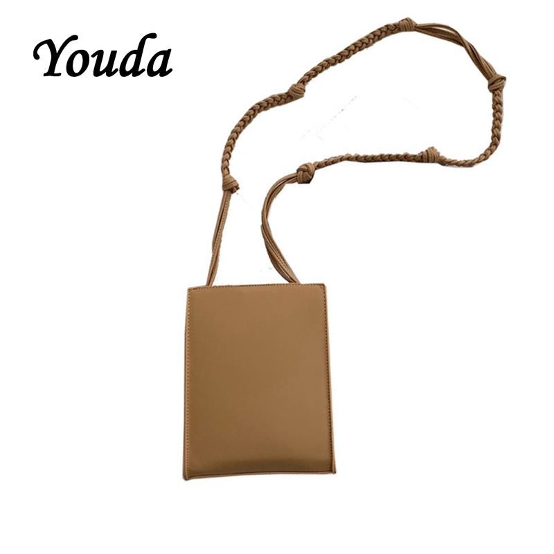 Youda 2019 Female New Student Shoulder Bag Solid Color Personality Messenger Bags Original Fashion Style Flip Opening Package in Shoulder Bags from Luggage Bags