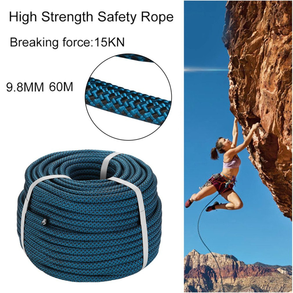 9.8MM 60M High Strength Cord Length Safety Rope Survival Paracord Safety Rope Line Cord String Camping Climbing Hammock Boat