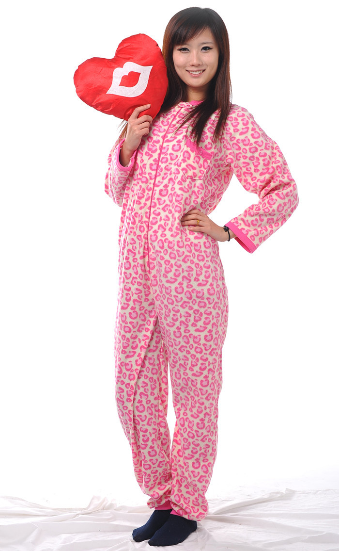 Popular Leopard Footed Pajamas for Adults-Buy Cheap Leopard Footed ...
