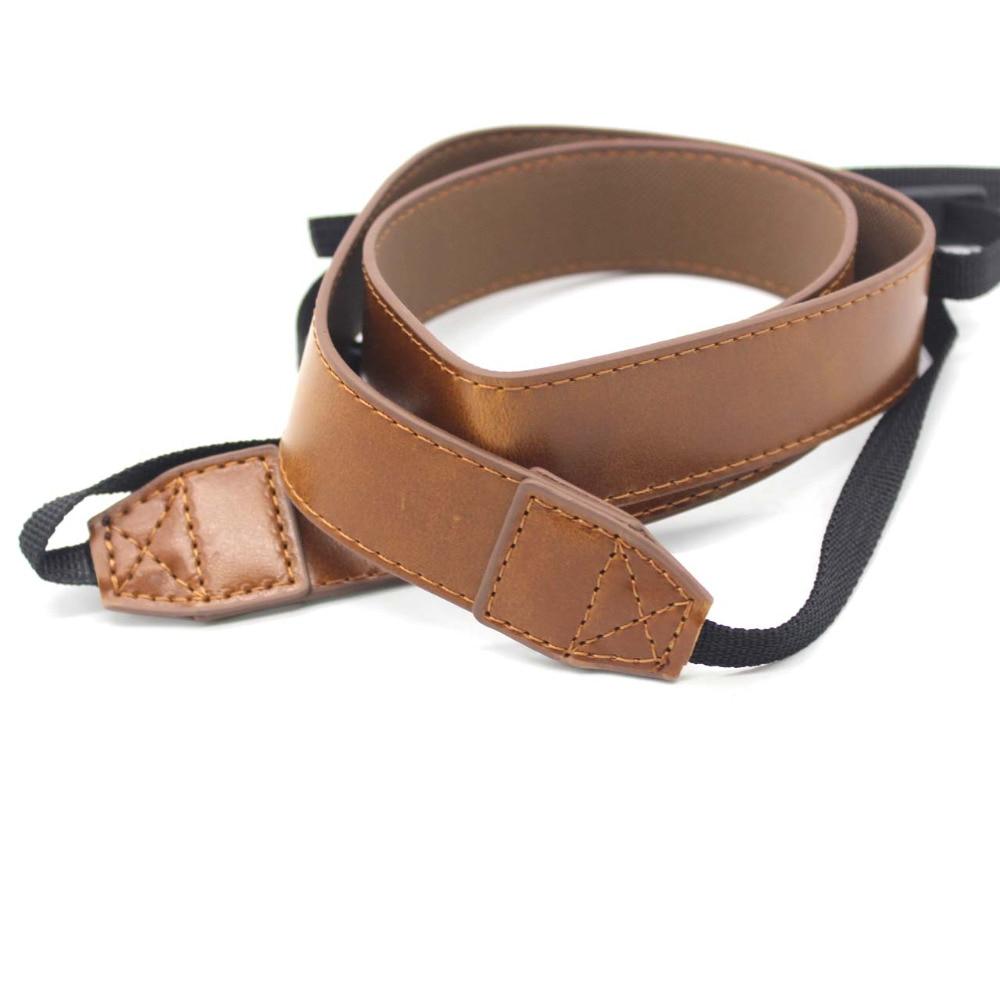 PCTC Brown PU Leather Belt Strap For 1DX Mark II 5D Mark IV 5D Mark III 5DS 5DSR 6D 80D 70D 750D Camera Shoulder Strap