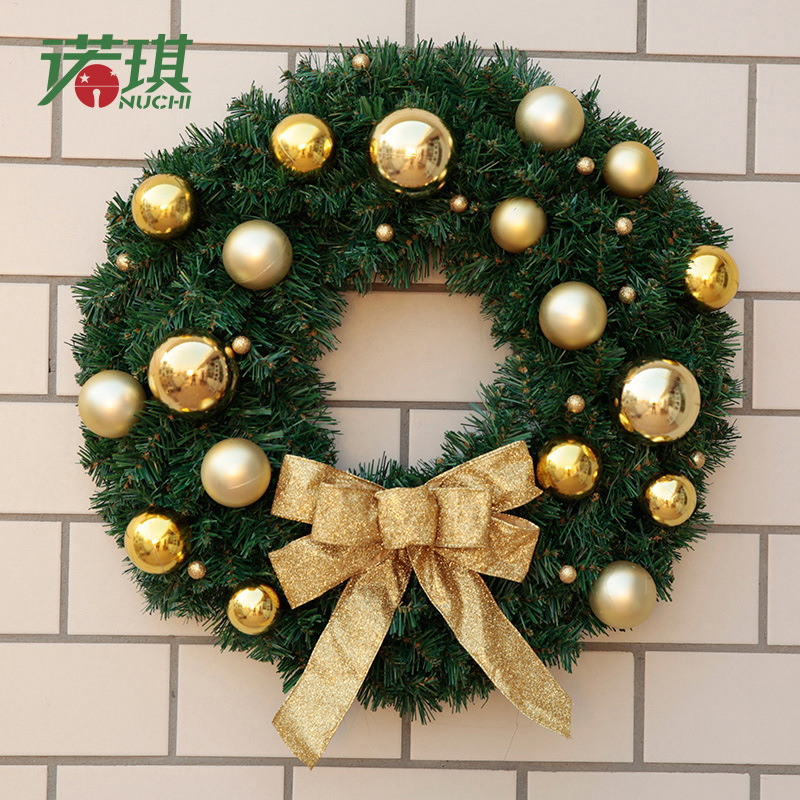 Christmas Ring.Us 32 89 30 Off Needles Encryption Christmas Wreath Accessories Bow Garland Door Window Decorations Rattan Ring Door Hanging Ornaments In Pendant