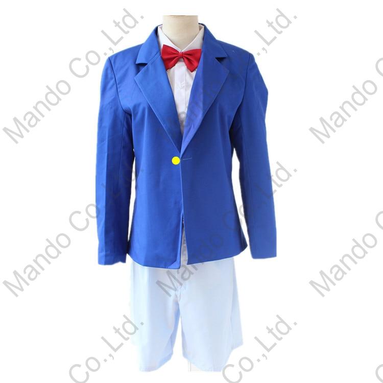 Anime Detective Conan Case Closed Kudou Shinichi Conan Cosplay Costumes kids or Mens school uniform suit Halloween outfit