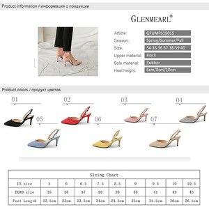 Image 5 - Sandales à talons hauts pour femmes, chaussures dété à talons fins, chaussures de soirée, bout pointu, tenue de bureau, grande taille, collection sans lacet