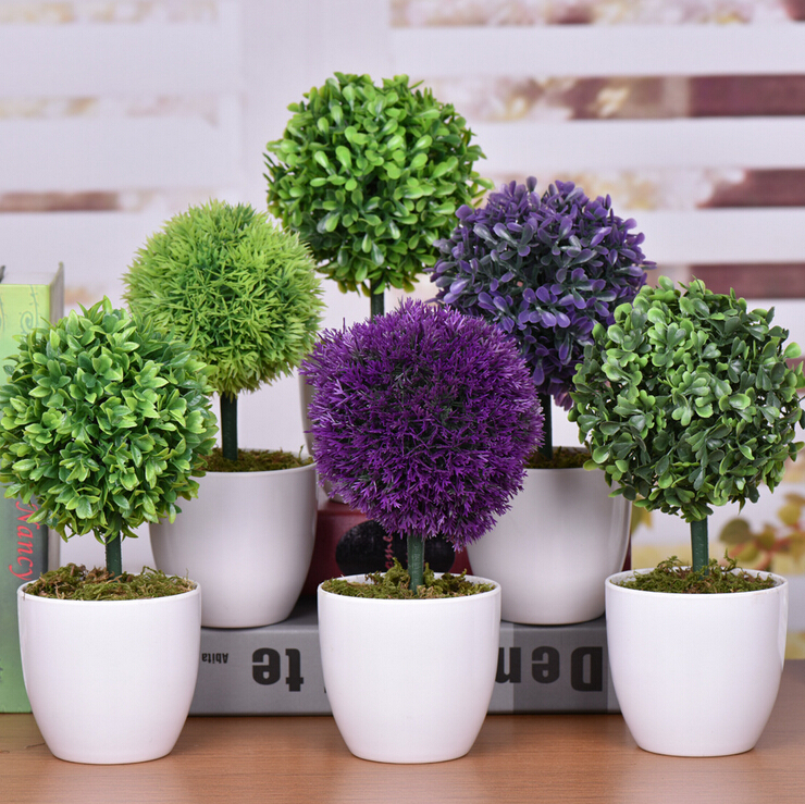 Superieur Decorative Green Artificial Flowers Bonsai Cheap Artificial Plants Creative  Rose Ornaments Wedding Decoration Office Desk Decor In Artificial U0026 Dried  ...