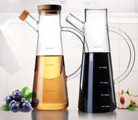 2019 fashionable Boron silicon glass oiler sesame oil vinegar bottle kitchen supplies leak proof oil bottle cook user