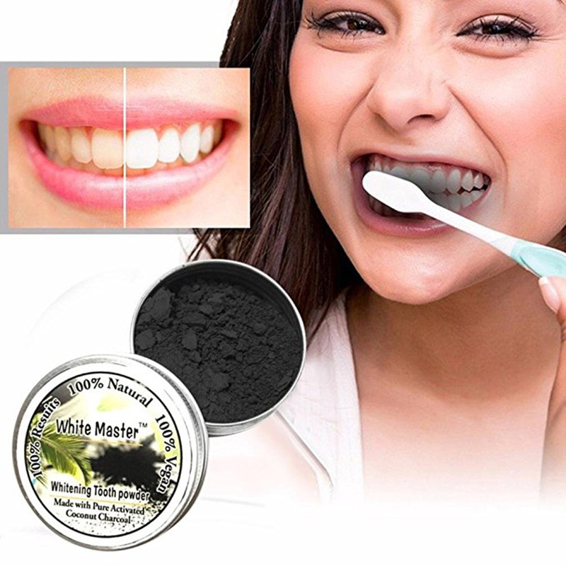 Teeth Whitening, ALIVER Teeth Whitening Powder Natural Organic Activated Charcoal Bamboo Toothpaste