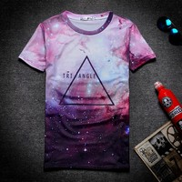 2016 New Fashion New Style Galaxy Space T Shirt 3D Full Printing With The Starry Night