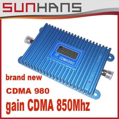 LCD Display !!! GSM CDMA 850Mhz Mobile Phone CDMA 980 Signal Booster Cell Phone CDMA Signal Repeater Amplifier + Power Adapter