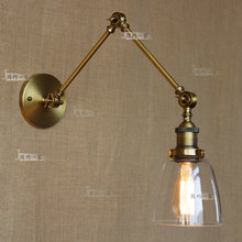 retro vintage two swing arm wall lamp glass shade sconces rh bedside light fixturewall mount swing arm lamps