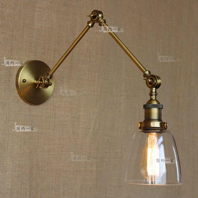 US $99.75 |Retro vintage Zwei Schwenkarm Wandleuchte Glasschirm Wandlampen  RH Nacht Leuchte, Wandhalterung Schwenkarm Lampen in Retro vintage Zwei ...